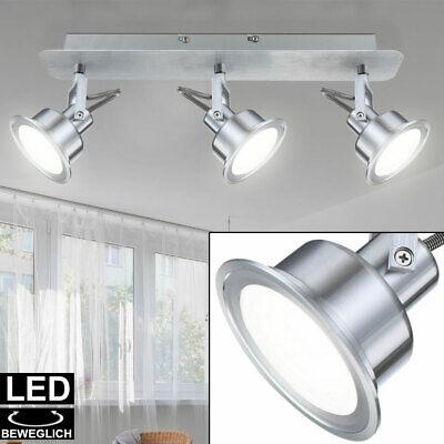 LED Decken Lampe Chrom Spot Leiste Arbeits Zimmer ALU