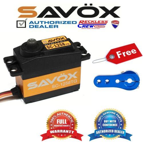 Savox SC-1258TG Coreless Digital Servo Free Aluminium servo horn Blue
