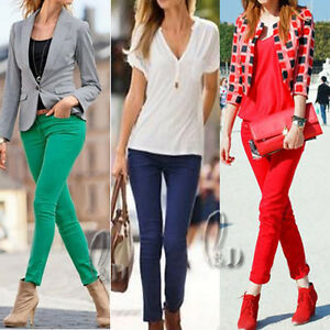 Celeb-Style-Sexy-Womens-Candy-Coloured-Skinny-Jeans-Pencil-pants-AU-SELLER-p126