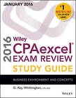 Wiley CPAexcel Exam Review 2016 Study Guide January: Business Environment and Concepts by O. Ray Whittington (Paperback, 2016)