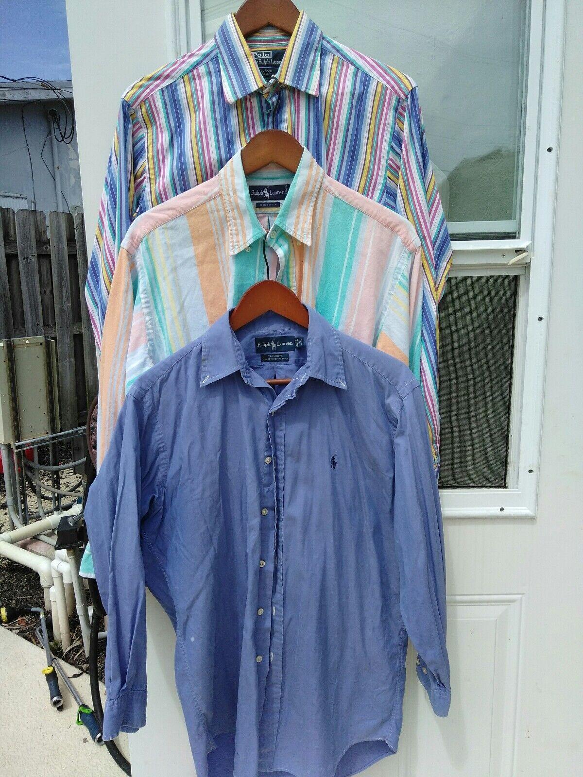 3 Ralph Lauren  Men  women Medium Polo Shirt Stripes  solid make offer
