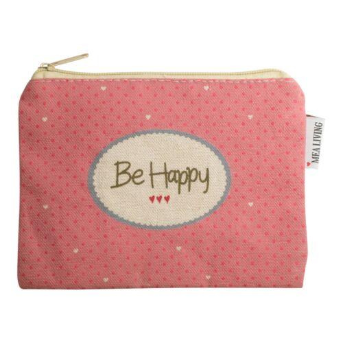"""MEA Living Petit sac cosmétique /""""BE HAPPY/"""" rétention un maquillage culture sachet"""