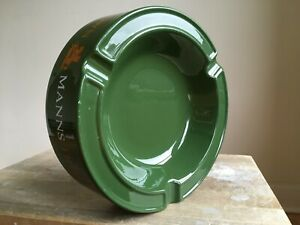 Vintage-Green-MANNS-TRIPLE-CROWN-Brand-Advertising-Pub-Ash-Tray-Breweriana