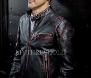 Mens-Biker-Motorcycle-Vintage-Distressed-Cafe-Racer-Leather-Jacket