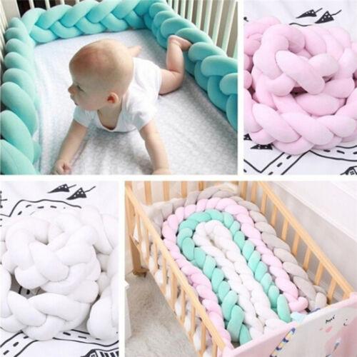 1M /2M Baby Soft Knot Pillow Braided Crib Bumper Decorative Bedding Cushion FG
