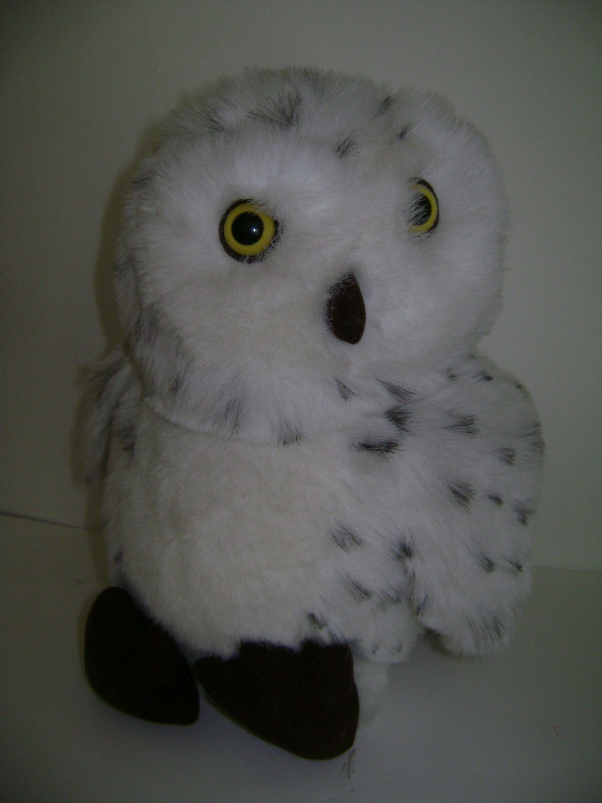 A & A WHITE SPOTTED OWL Plush STUFFED 14  VERY CUTE