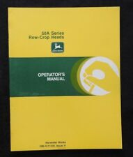 John Deere 4400 6600 7700 6620 7720 8820 50a Row Crop Heads Operators Manual Nmt