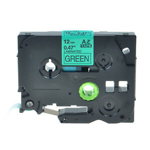 "1PK TZ731 TZe731 Black on Green 1//2/"" Label Tape for Brother P-Touch PT-7500 12mm"