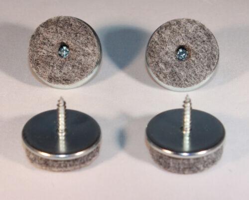 20 Filzgleiter zum schrauben rund Ø 28 mm Eisen Filz Gleiter Möbelgleiter Stuhl
