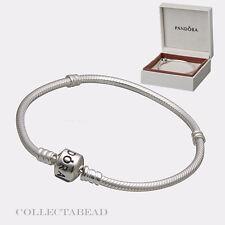 Authentic Pandora Silver Bracelet With Pandora Lock 7.5' Hinged Box 590702HV
