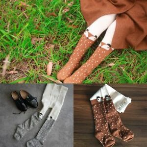 0-4T Baby Kids Girl Cotton Fox Tights Socks Stockings Pants Hosiery Pantyhose