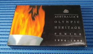 1994-amp-1995-Australia-Olympic-Heritage-Series-4X-10-999-Silver-Coin