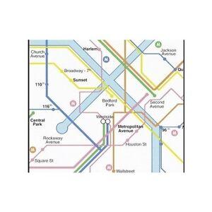 Ponctuel Rasch Blanc Nyc New York Metropolis Métro Tour Carte Papier Peint 232011-afficher Le Titre D'origine