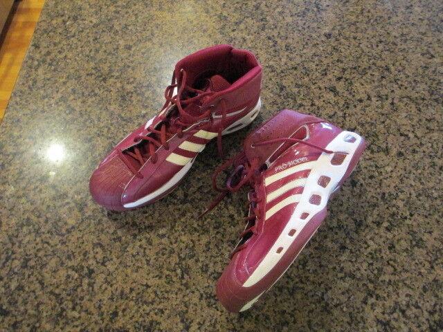 Adidas uomini (modello bianco, rosso   brillante basket 18 alte 3 righe | Funzionalità eccellenti  | Scolaro/Signora Scarpa