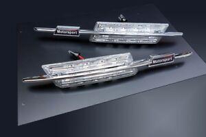 Fuer-BMW-Chrom-Klarglas-Seitenblinker-M-LED-Blinker-Tuning-Styling-Motorsport-3er