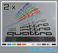 2 x Audi QUATTRO Side Decals / Stickers - Premium Quality Vinyl fits Audi A4 S