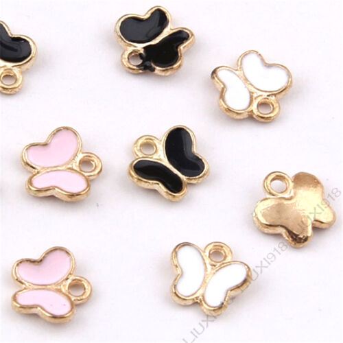 10pc Small butterfly Animal Pendant Charm Earring Bracelet Jewelry Making 992H