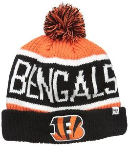 8c731d81d NFL  47 Calgary Cuff Knit Beanie with Pom Cincinnati Bengals One ...
