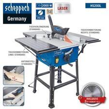 Scheppach Tischkreissäge HS200L 2000W Laser Untergestell 2Tischverbreiterungen