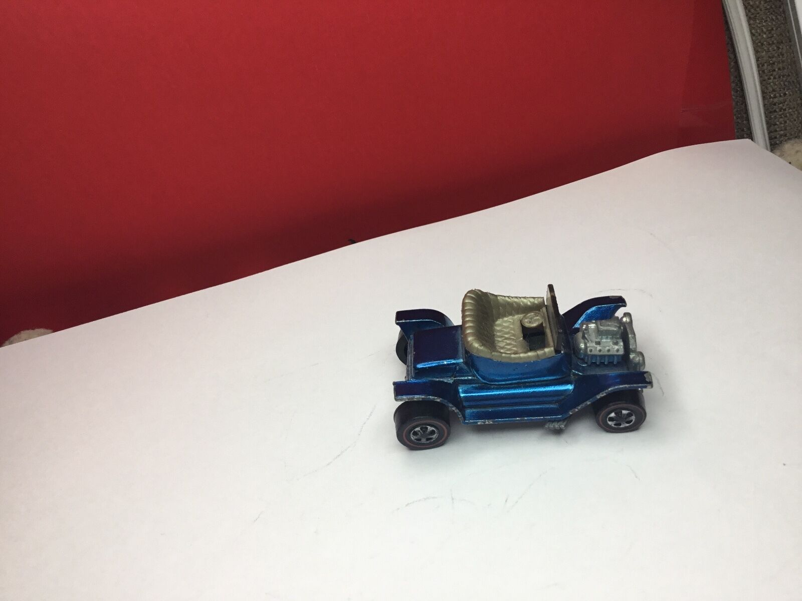 VINTAGE 1968 rotLINE HOTWHEELS Blau HOT HEAP IS IN EXCELLENT CONDITION U.S CAST