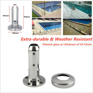 Stair-Glass-Spigots-Pool-Fence-Balustrade-Post-Clamps-Railing-Round-10-12mm