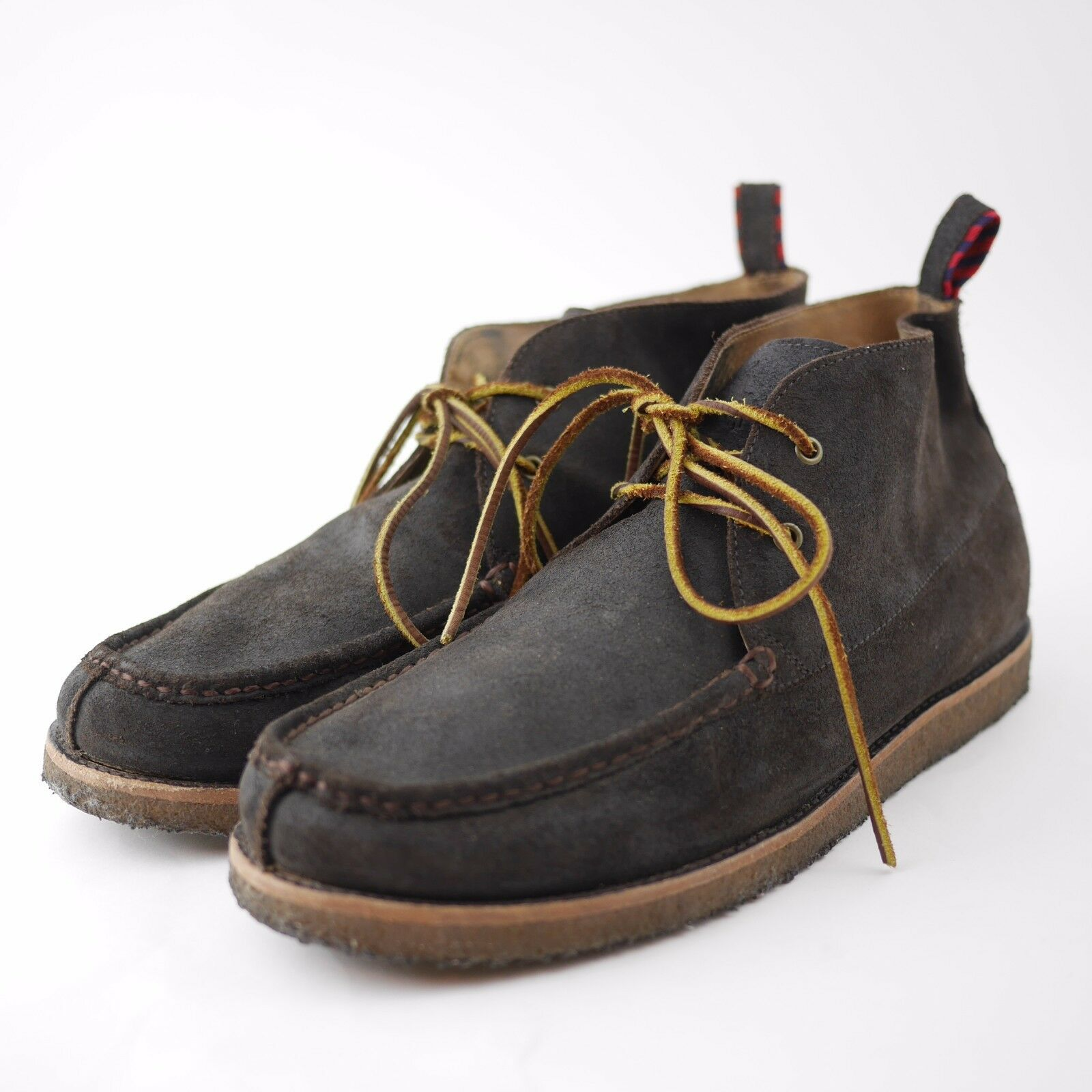 POLO RALPH LAUREN  Brown Suede Leather Ankle Pitney Chukka Boots - Men's 13 D