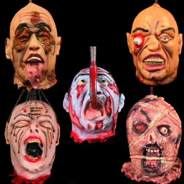 Halloween Hanging Head Prop Fancy Dress Party Decoration Scary Gruesome Horror