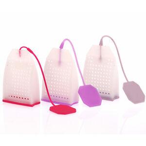 Silicone Mesh Loose Spice Herbal Tea Bag Leaf Infuser Strainer Filter DiffuserQH