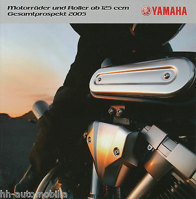 Yamaha Prospekt 2005 BT 1100 Bulldog Fazer Majesty MT-01 TDM 900 A Broschüre