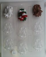 Christmas Bells Bs Chocolate Christmas Candy Mold Molds Cupcake Topper