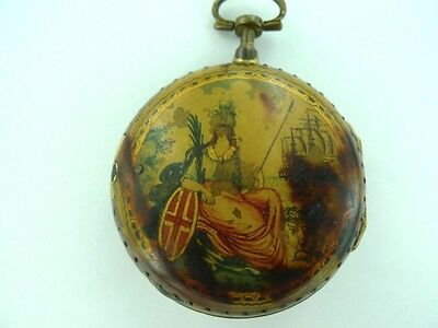 "c1770 STUNNING ENGLISH "" RULE BRITANNIA "" POCKET WATCH, INFAMOUS MAKER J BIRCH."