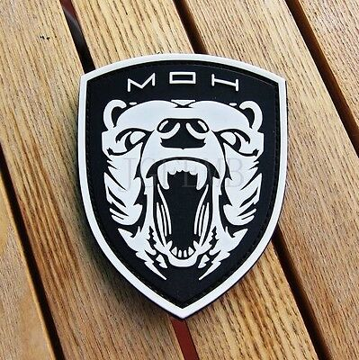 Medal of Honor MOH GRIZZLY morale Military 3D PVC Patch