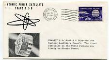 1963 Atomic Power Satellite Transit 5B/SNAP 9 Vandenberg First SPACE NASA SAT