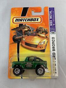 HOT-Wheels-1972-FORD-BRONCO-55th-Anniversario-Metallico-Verde-spedizione-in-scatola