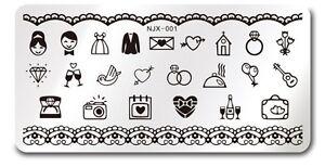 Nail-Art-Stamping-Wedding-Design-Theme-DIY-Manicure-Image-Plate-NEW-NJX-001