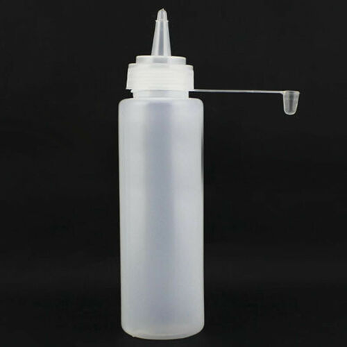 8 16 24Oz Squeeze Bottle Set Squirt Condiment Mustard Vinegar Bottles White