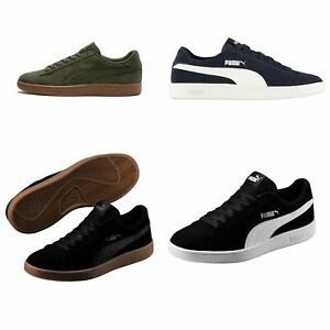 Puma-Smash-V2-Suede-Trainers-Mens-Shoes-Sneakers-Athleisure-Footwear