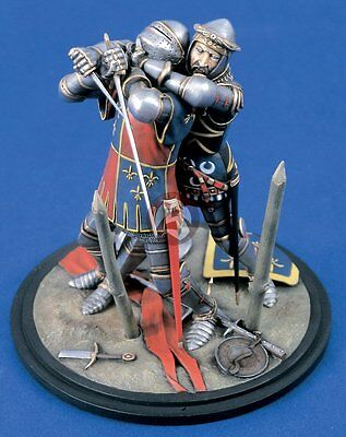 1178 2 Figures Verlinden 120mm 1//16 Medieval Knights at War Vignette with Base