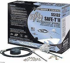 "Teleflex SS14111 11/' SINGLE BACK MOUNT RACK BOAT STEERING SYSTEM WITH 13/"" WHEEL"
