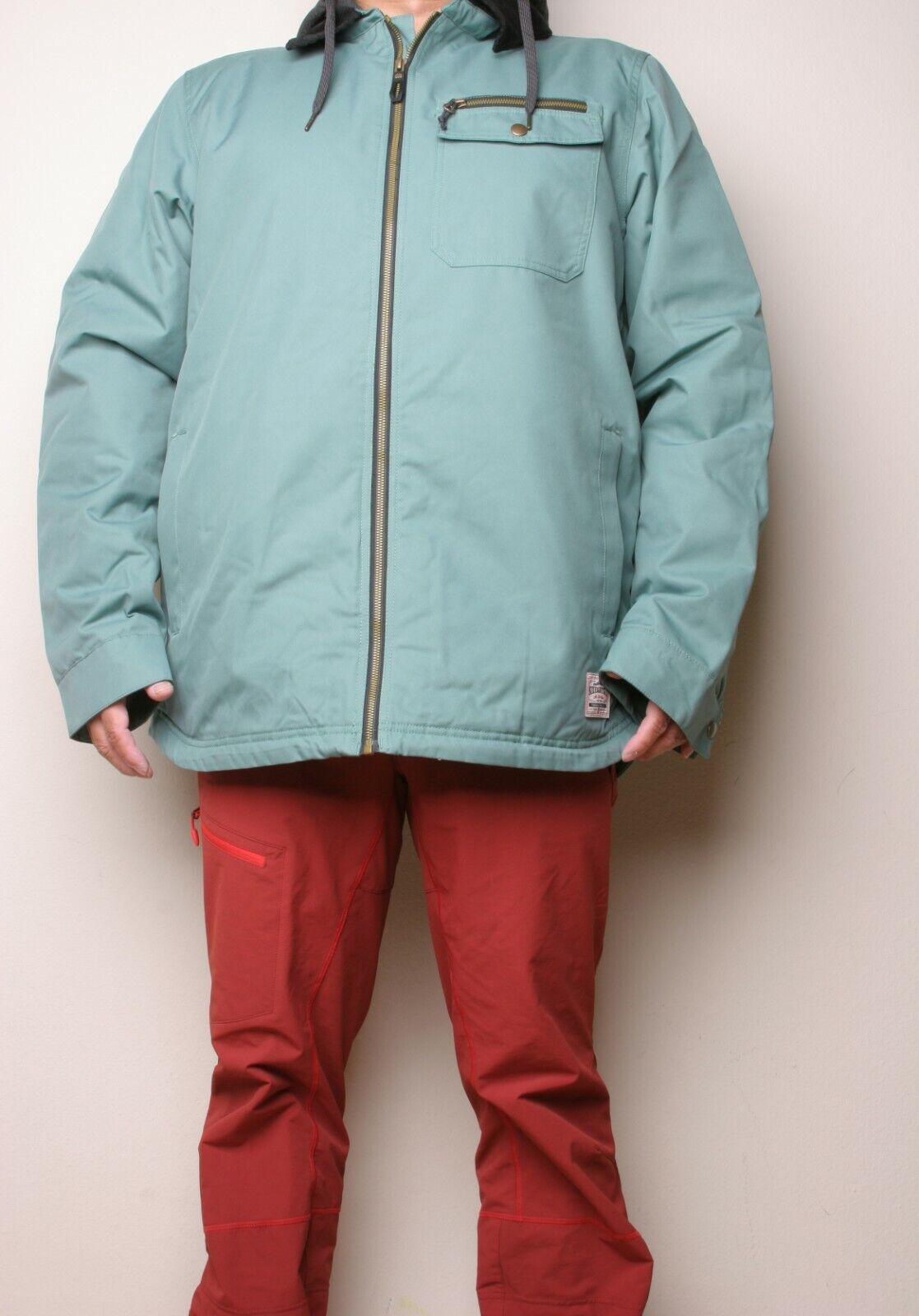 686 Garage Insulated Snowboard Jacket (L) Marine Green L9W127-MARN