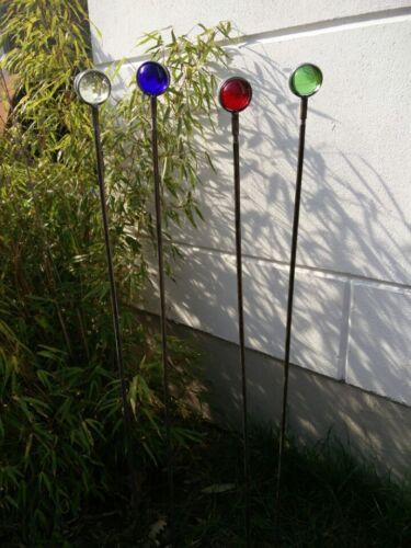 Edelrost Gartenstecker Rost Beetstecker Garten Glaskugel Glasdeko 117*4cm Metall