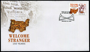 Details about 2019 Welcome Stranger Gold Nugget S/A *Unissued* FDC Stamps  Australia