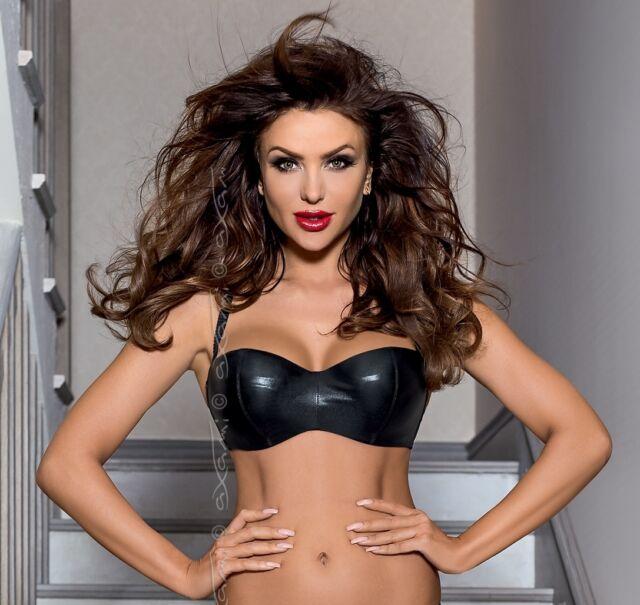 Luxury Black Soft Cups Balconette Balcony Bra Lingerie Axami V 6351 Piment New For Sale Online