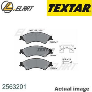 2563201 FRONT TEXTAR BRAKE PADS SET KIT