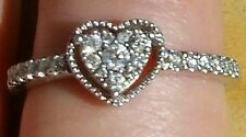 1/4 Carat TW Diamond Heart Shape Promise Ring/ Paid $330!!!