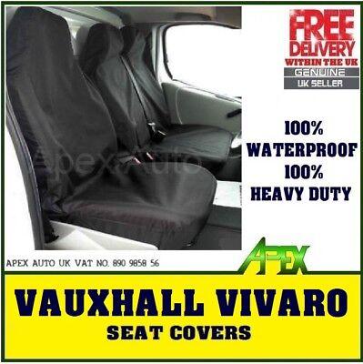 VAUXHALL VIVARO 2016 HEAVY DUTY WATERPROOF BLACK VAN SEAT COVERS 2+1