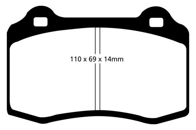 Disc Brake Pad Set-EBC Redstuff Ceramic Low Dust Brake Pads Rear EBC Brake