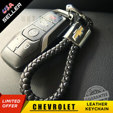 Leather Metal Keychain Ring Gift With Chevrolet Emblem Decoration Accessories