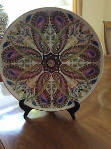 Metropolitan Museum of Fine Arts Boston, Porcelain Decorative Plate w/Gold Rim