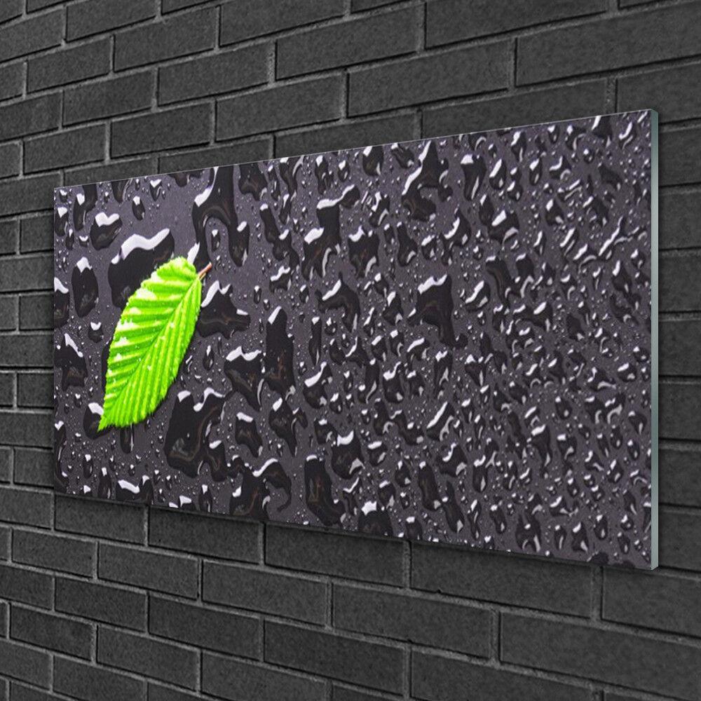 Image sur verre Tableau Impression 100x50 Art Feuille